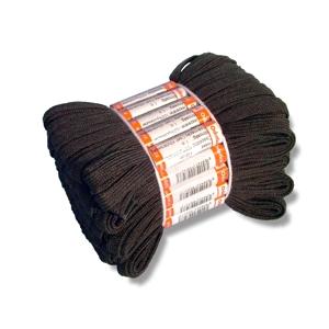 Tkaničky společenské černé vosk 370, 75 cm, 25 párů v balíčku