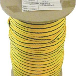 Oděvní šňůra 300 žlutočerná
