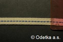 Knot do petrolejky tkaný plochý 7 mm, 10 m režný