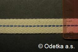 Knot do petrolejky tkaný plochý 12 mm,10 m režný