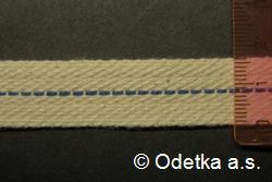 Knot do petrolejky tkaný plochý 16 mm, 10 m režný