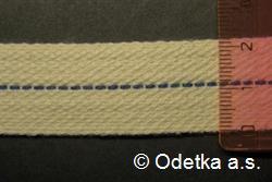 Knot do petrolejky tkaný plochý 22 mm, 10 m režný