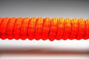 Tkanička Spirálka 70cm reflexní červená
