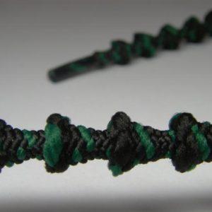 Tkanička Free-lace 75 cm zelenočerná