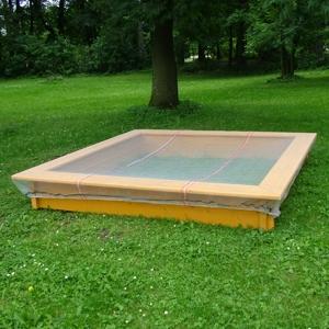 Síť na pískoviště 1,5 x 1,5 m zelená