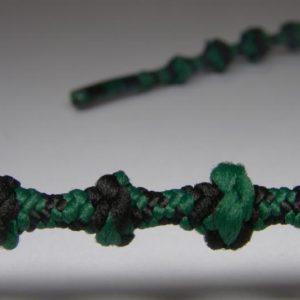 Tkanička Free-lace 75 cm černozelená