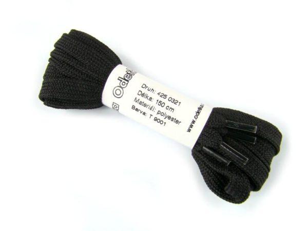 Tkanička Winter ice black 150 cm černá