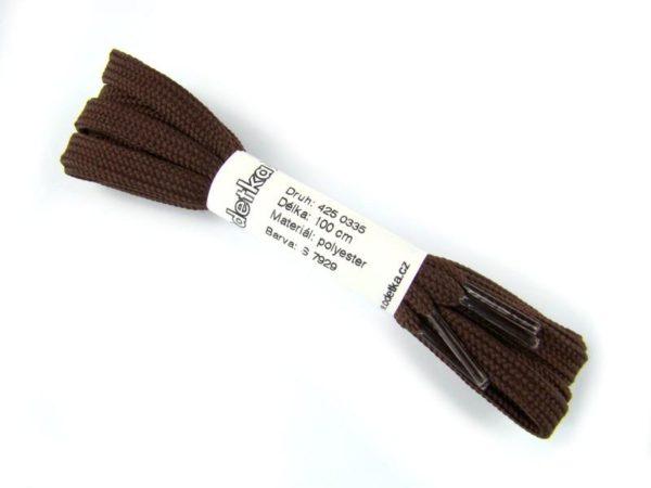 Tkanička Spring brown fast 100 cm hnědá