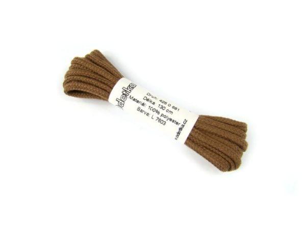 Tkanička Sport fashion brown 130 cm hnědá