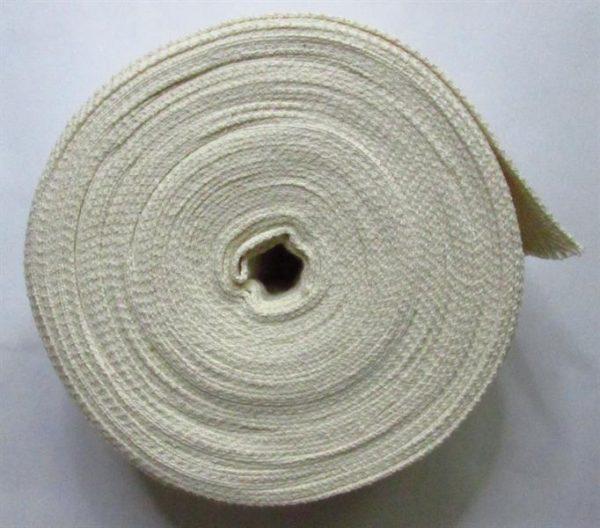 Knot do petrolejky tkaný plochý 66 mm, 10 m režný